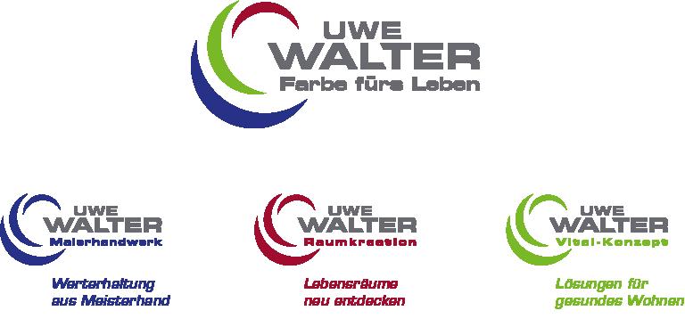 Logo und Claim für jede Marke von Uwe Walter