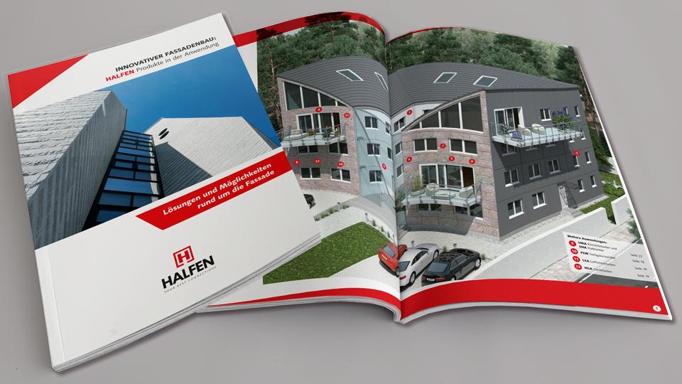 Broschüre mit Fokus auf Anwendung: Hier für die Fassadentechnik