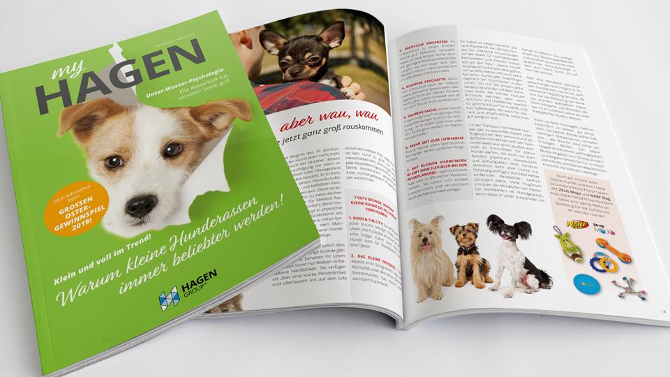 Kundenzeitschrift myHAGEN mit Redaktion