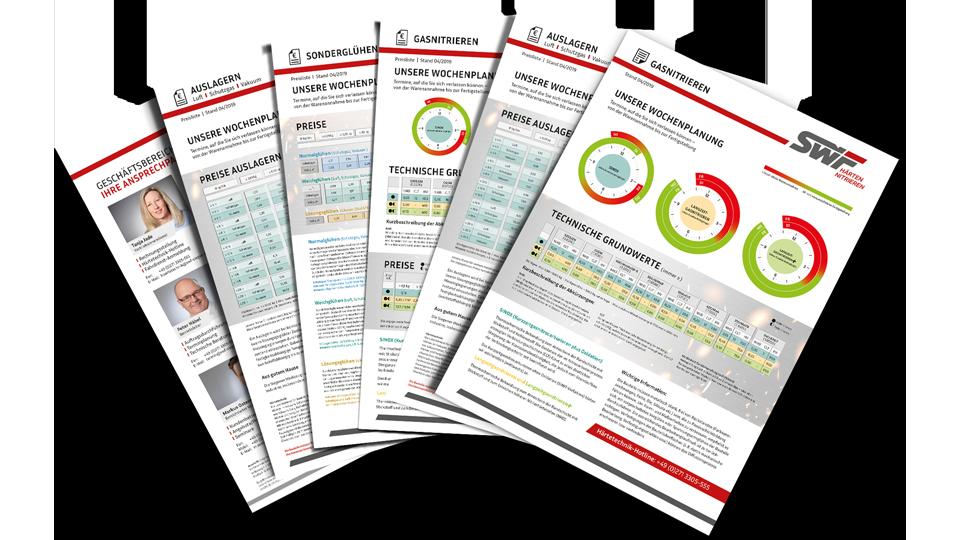 SWF Datenblätter nach neuem Corporate Design
