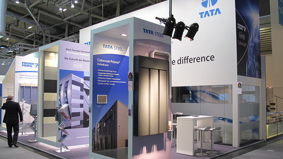 Messestand live: Tata Steel