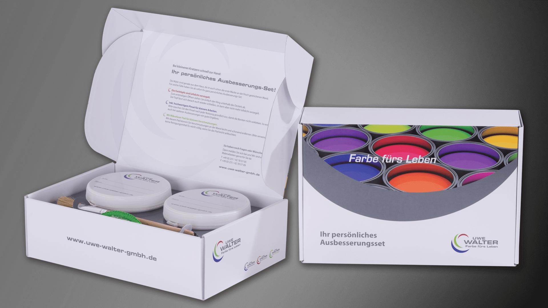 Die Farb-Box aufgeklappt: Die Direktmarketing Lösung