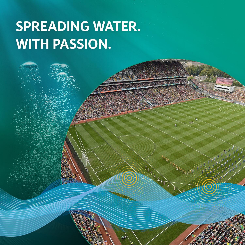 Slogan - Spreading Water With Passion - mit Wilo Referenz Croke Park