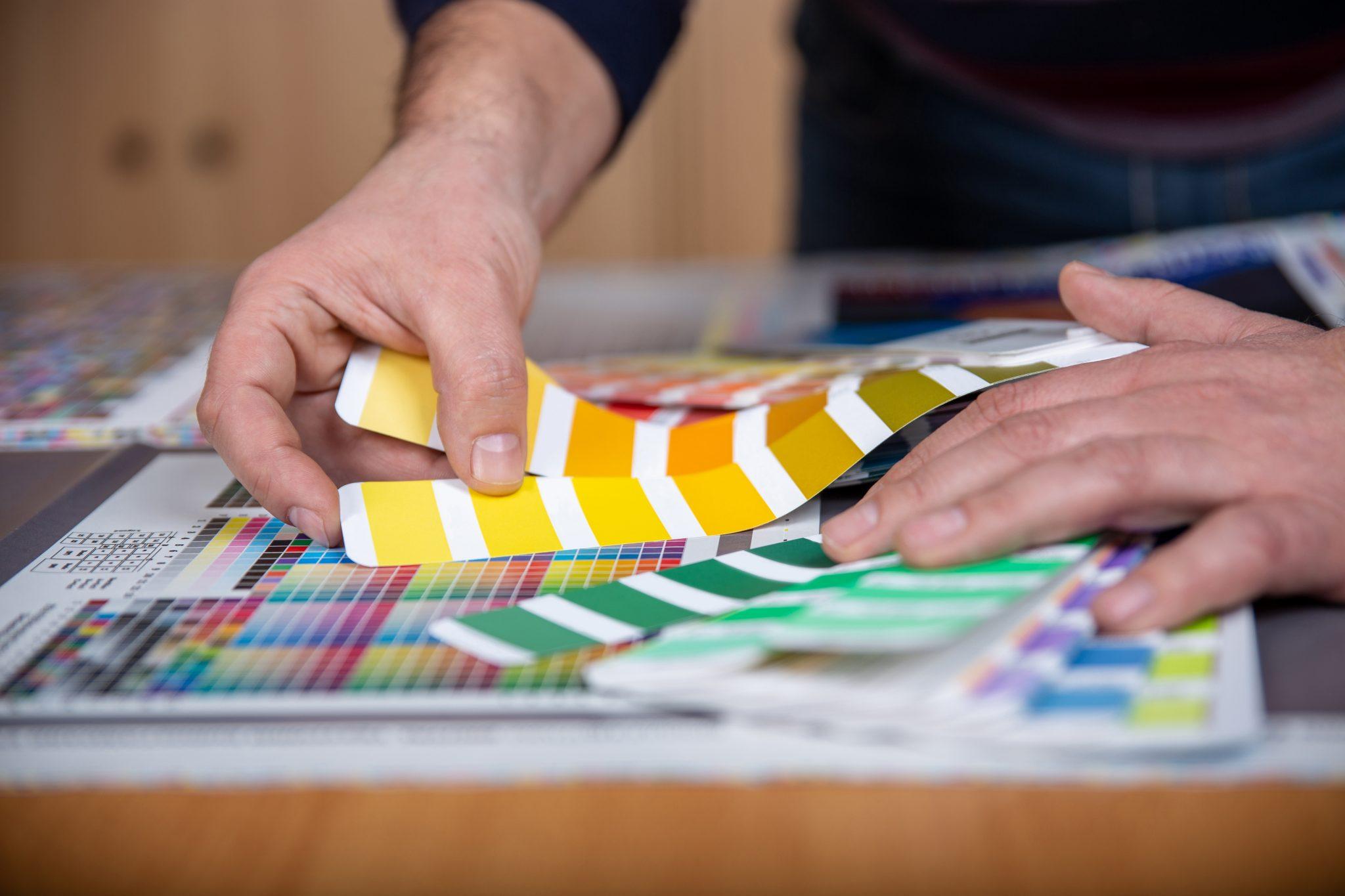 Print: Damit der Druck perfekt funktioniert, müssen Farben fest definiert werden.
