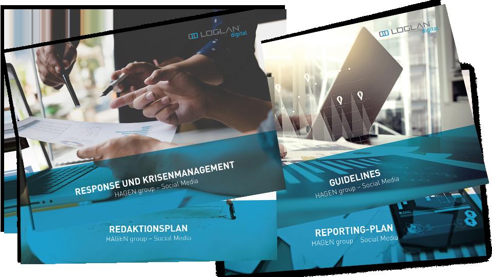 Social Media Konzeption mit Guidelines, Redaktionsplan, Reaktionsmanagement und Reporting