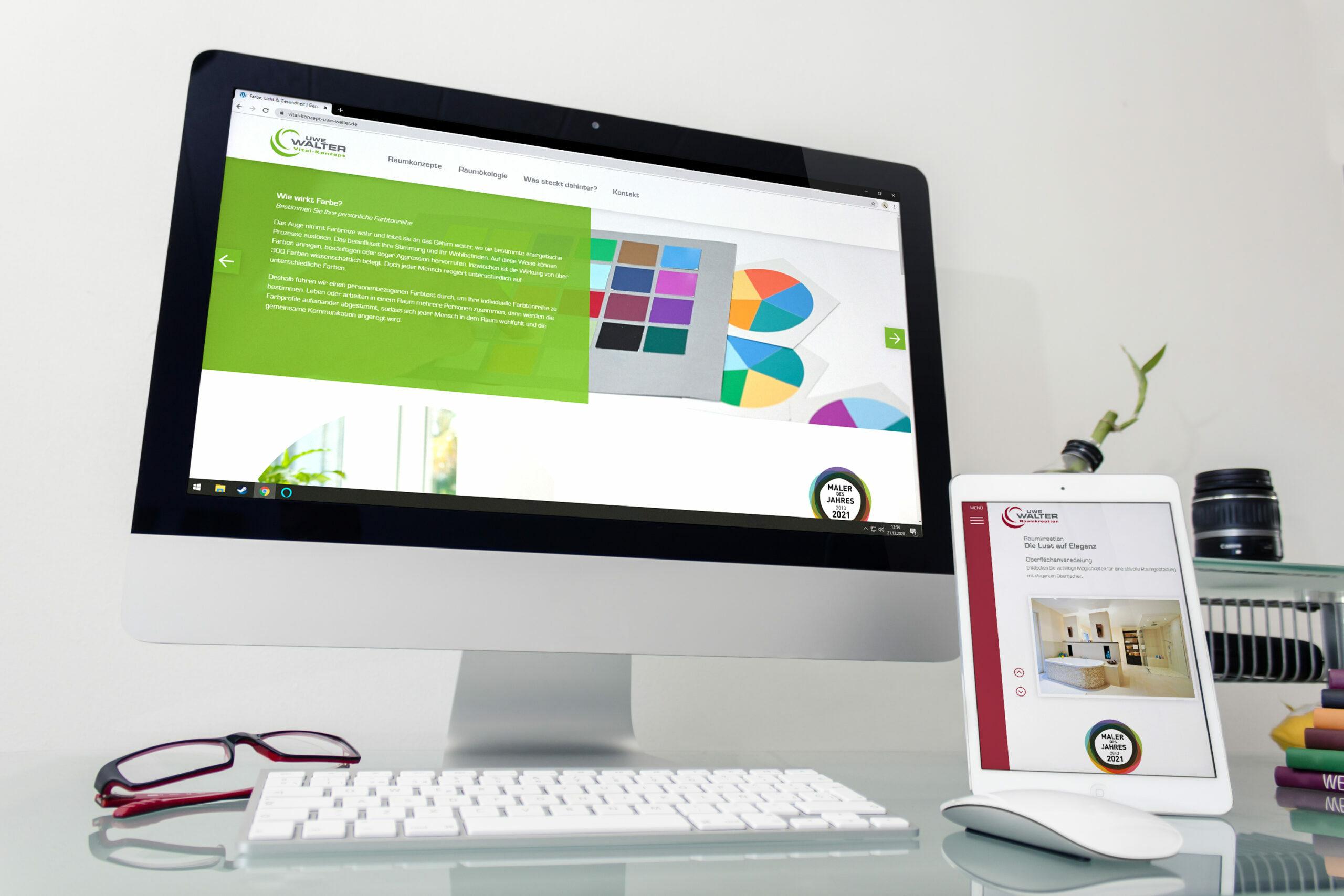 Nach dem Website Relaunch haben auch Raumkreation und Vital-Konzept ihre eigenen Websites.